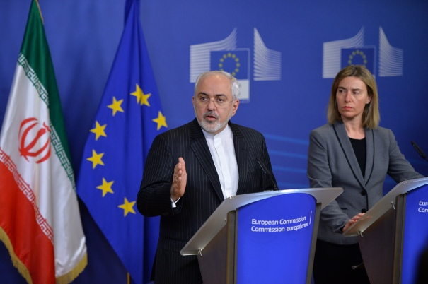 Iran's Foreign minister Mohammad Javad Zarif in Brussels